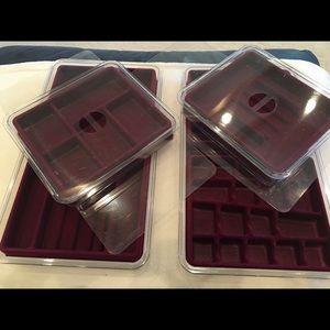 Jewelry Organizer Storage Boxes - set of 4